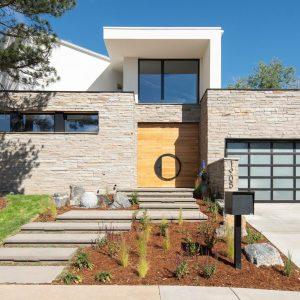Aussenansicht einer Villa mit Passivhausfenster in Boulder
